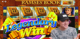 Mega win on RAMSES BOOK slot (Gamomat)
