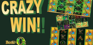 My record win on Book of Oz slot (Microgaming)