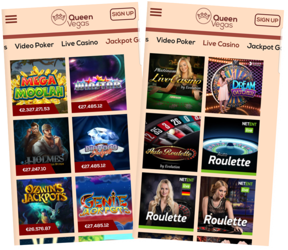 QueenVegas mobile casino