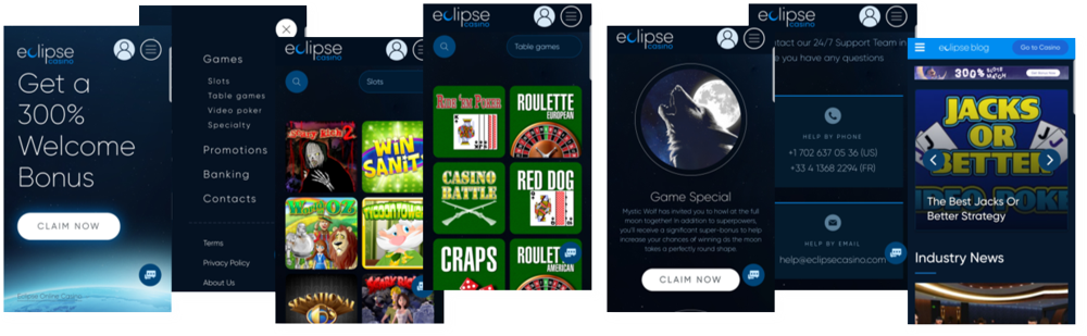 Eclipse Casino mobile