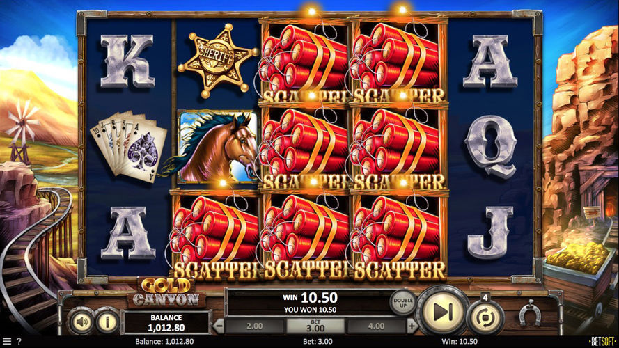 Gold Canyon slot bonus features - Scatter pays