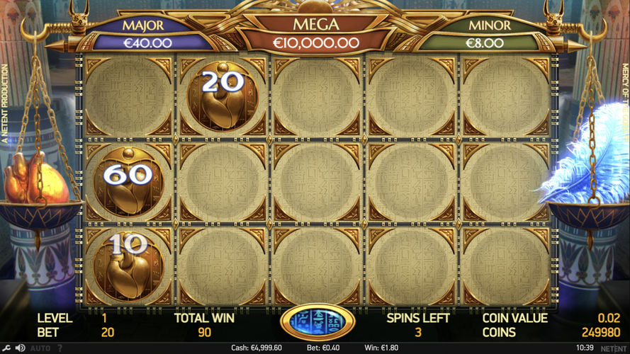 Mercy of the Gods jackpot game
