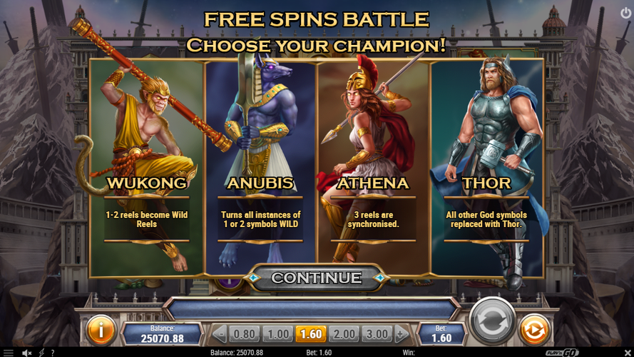 Divine Showdown free spins