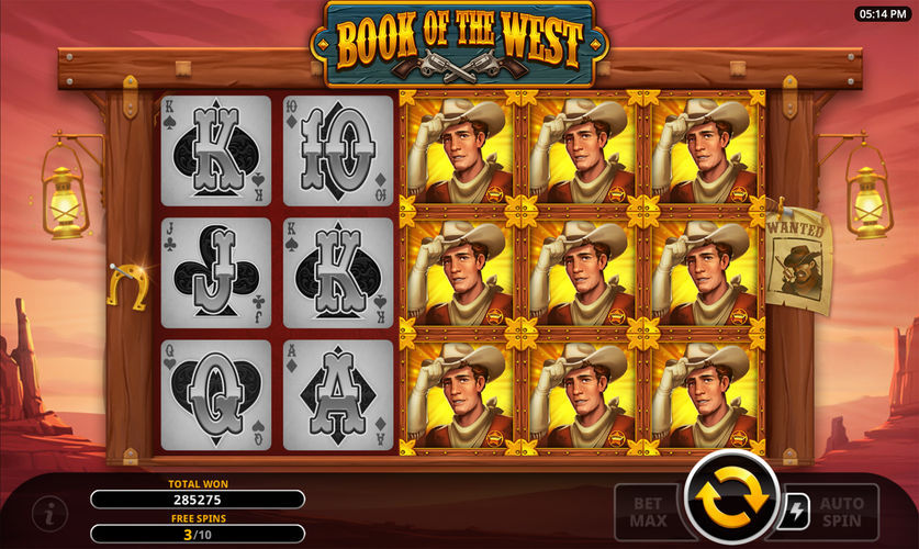 book of the west free spins