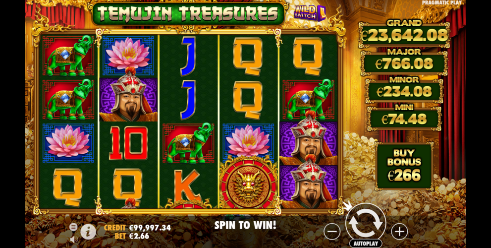temujin treasures main game