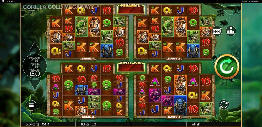 Gorilla Gold Game Screen